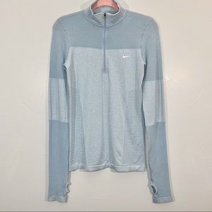 Nike Running | Light Blue Long Sleeve Quarter Zip